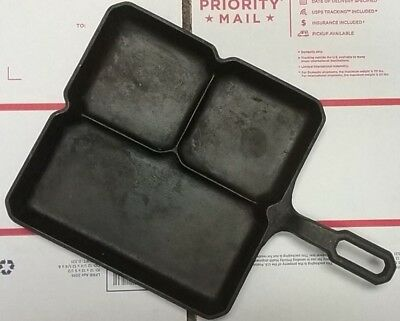 Rare GRISWOLD 666 B Colonial Breakfast Skillet cast iron antique old vintage WOW
