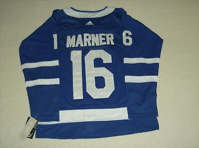 "2018-19 Toronto Maple Leafs # 16 Mitch Marner ""Home"" Blue Jersey Brand New  Ad"
