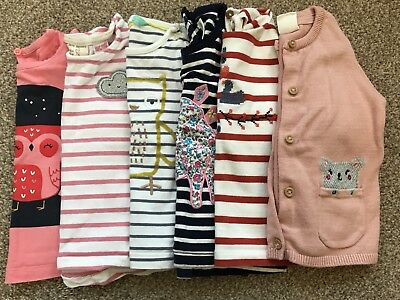 Girls 6-9 Month Long Sleeved Tops Bundle With Sleepsuit