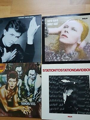 12 LPs David Bowie Heroes Low Stage Pin Ups Lodger Ziggy Stardust Station to sta