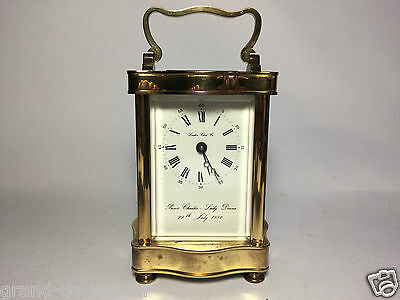 London Clock Co Brass Carriage Clock Prince Charles & Lady Diana 29th July 1981