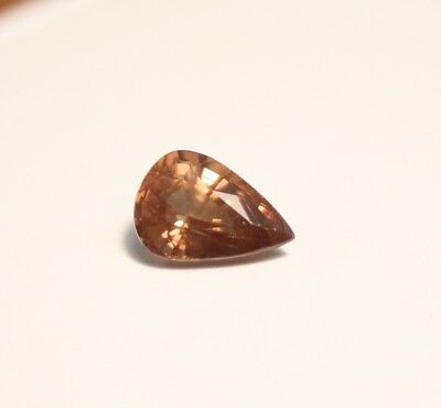 1.94ct Honey Malaya Garnet - Precision Cut Large Pear Cut Gem