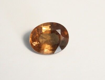 1.48ct Honey Malaya Garnet - Precision Oval Cut Gem