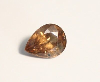 1.77ct Honey Malaya Garnet - Precision Cut Large Pear Cut Gem
