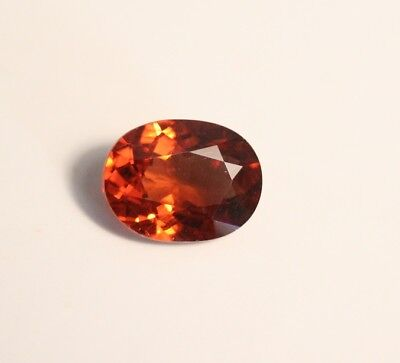 1.73ct Intense Orange Malaya Garnet - Precision Large Oval Cut Gem