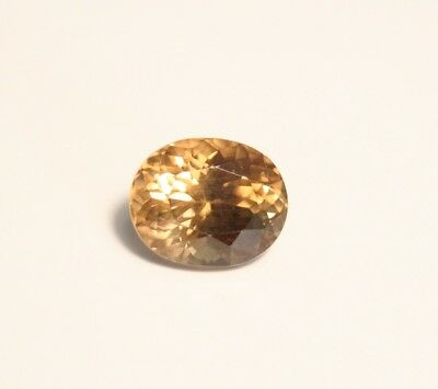 1.7ct Honey Yellow  Malaya Garnet - Precision Large Oval Cut Gem
