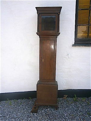 EARLY OAK LONGCASE CLOCK case for a  10x10 inch dial C1770