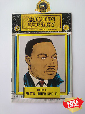 GOLDEN LEGACY The Life Of MARTIN LUTHER KING JR, 1972 FITZGERALD PUB.CO, CLASSIC