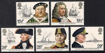SG1187-1191 1982 MARITIME HERITAGE Unmounted Mint GB