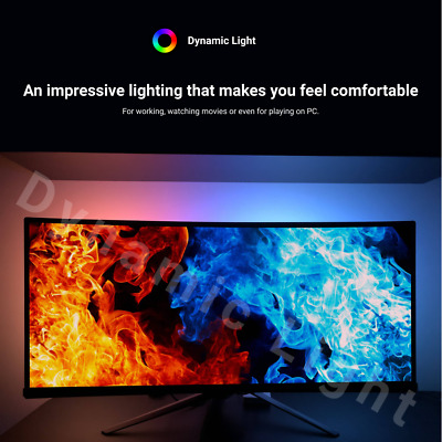 Dynamic Light ambilight backlight for PC monitor fast refresh rate, EU plug 230V
