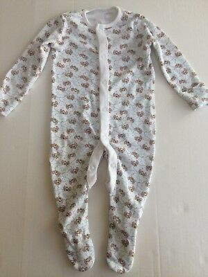 Baby Unisex Small Little Roo Pattern Sleepsuit (Disney Baby) Up To 3 Months
