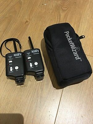 2 x Pocket Wizard Plus II Transceiver Photography Flash Trigger
