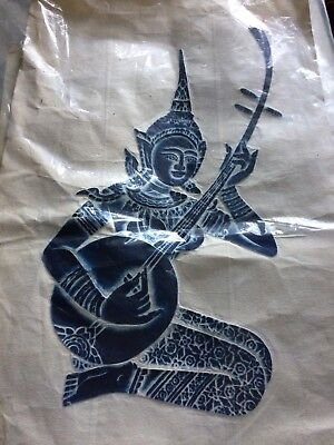 Thai Temple Rubbing Orginal Item, collectible, vintage