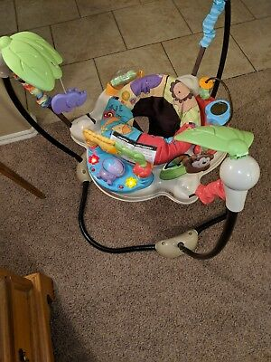 Baby Bouncer Toy Fisher Price Luv U Zoo Jumperoo Learn Toddler Activity Center