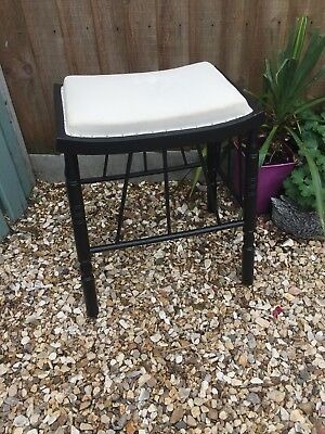 Antique Ebonised Aesthtic Anglo-Egyptian Stool In The Manner Of Godwin