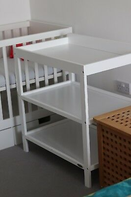 Obaby open changing table unit with shelving for nappies, wipes and clothes