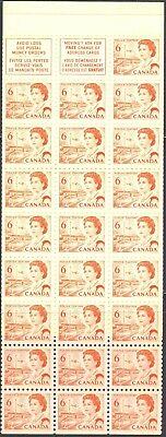 1967-73 Canada #459a Complete Mint Never Hinged Booklet #60