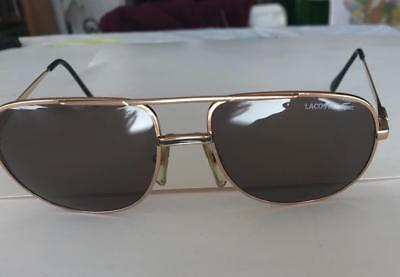 61bd0b3756 VINTAGE AVIATOR SUNGLASSES BY LACOSTE mens 80s 101 exc special edition 70s