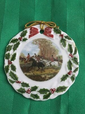 Fox Hunt Porcelain Christmas Ornament