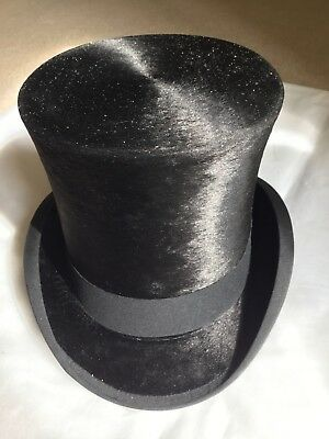 Antique Black Silk Top Hat.Made by Edgley & Sons. Circa Early 20c