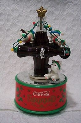 Coca Cola Christmas Musical Action Figurine High Flyin Holiday Fun ENESCO 1997