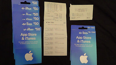 APPLE APP STORE & iTunes gift cards, physical cards, $600