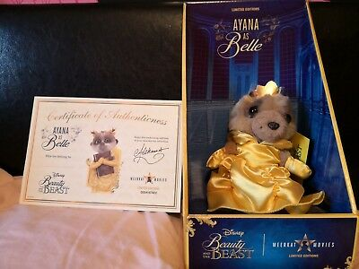 Ayana as Belle, Beauty And The Beast Compare The Market Meerkat, Disney teddy