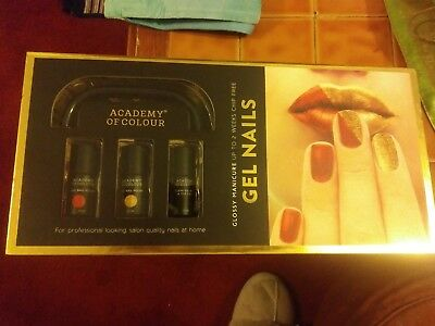 Gel Nails At Home Complete Kit. Academy of colour led lamp and extra polish .