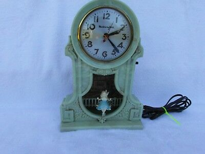 MASTERCRAFTERS Vintage Swinging Girl Mantel Clock Used Preowned