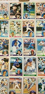 1983 topps baseball 44 Card Lot,  no dupes G-EX, Brett, Rose, Gibson,  Molitor