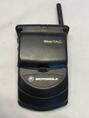 Vintage Motorola Startac Flip phone Cell with power adapter WORKING FREE SHIP