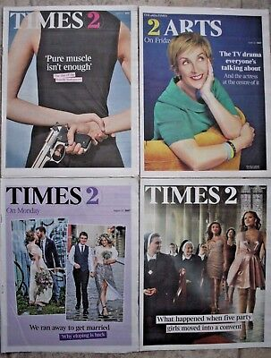 4 Times Newspaper Supplements 2017 Female Bodyguards/Eloping/Broadchurch etc etc