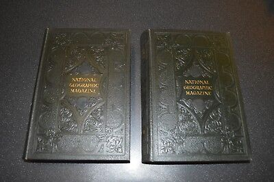 National Geographic Magazines 1950's Leather Bound Volumes 97 & 98
