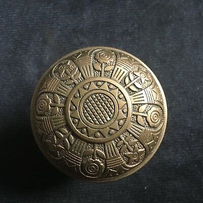 Antique Nashua VICTORIAN Eastlake  Cast Bronze DoorKnob