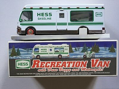 1998 Hess Recreation Van with Dune Buggy & Motorcycle  ~ Mint in Box