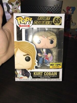 Funko Pop! Rocks Nirvana Kurt Cobain Hot Topic Exclusive 66