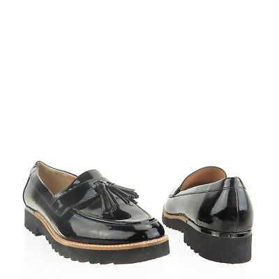 a3110a968d2 Women s Franco Sarto Carolynn Shoes Black Synthetic Flat Loafers Size 9 M