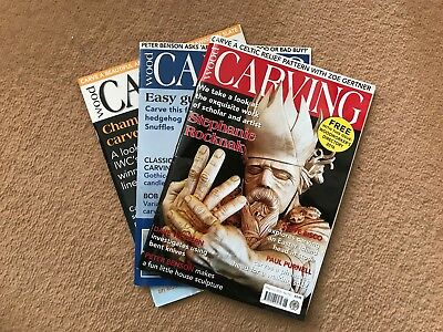 Wood Carving Magazine, 3 Issues, 2016