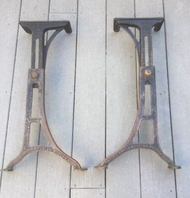 Vintage Kenney Bros. Wolkins Adjustable Cast Iron Table Base Legs