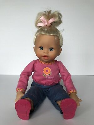 Fisher Price Little Mommy Baby Knows Interactive  Doll English Spanish Bilingual