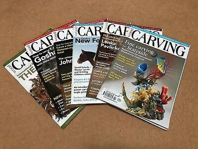 Wood Carving Magazine, 6 Issues, 2012