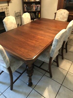 1929 Antique Walnut Dining Set W/Lowboy Hutch and China Cabinet