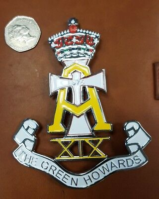 The Green Howards car grille badge Emblem Mascot Army,  Military Auto Motorcycle