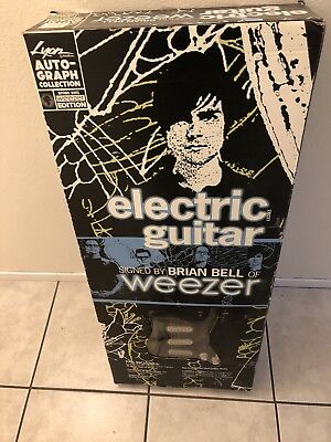 Acoustic Electric Guitars Brian Bell Of Weezer Limited Edition Signed Lyon Washburn Electric Guitar Coa