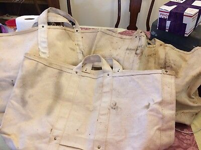3x Lot of Vintage Bell System Canvas Tool Lineman Bag XL Used