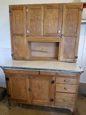 Antique Custom Sellers Kitchen Cupboard