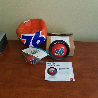 Collectoin of Union 76 Gasoline Honk Suppressor/Soccor Ball/ Magnet Car Ornament