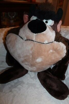 "Vtg Warner Bros '71 Tasmanian Devil Taz Big 23"" Plush Stuffed Animal Collectible"