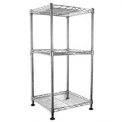 64x30x30cm Real Chrome Wire Rack Metal Steel Kitchen Garage Shelving Racks DCUK