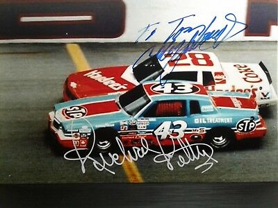 Richard Petty & Cale Yarborough Authentic Hand Signed  4X6 Photo  - TOM